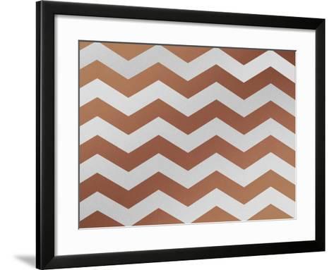 Xmas Chevron 4-Color Bakery-Framed Art Print