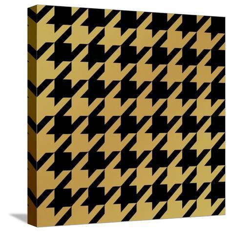 Xmas Houndstooth 5-Color Bakery-Stretched Canvas Print