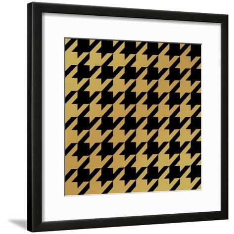 Xmas Houndstooth 5-Color Bakery-Framed Art Print