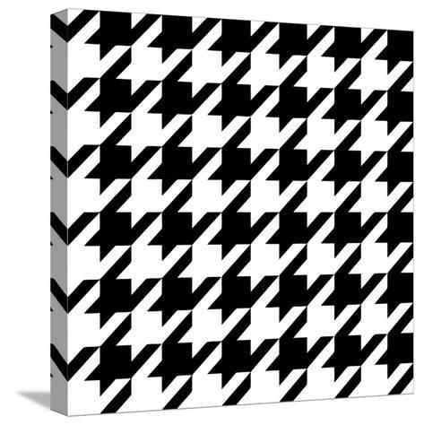 Xmas Houndstooth 6-Color Bakery-Stretched Canvas Print