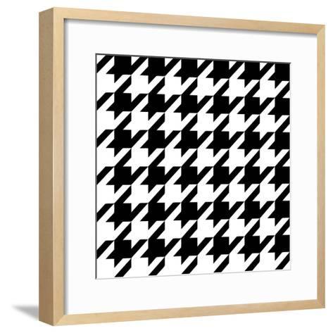 Xmas Houndstooth 6-Color Bakery-Framed Art Print