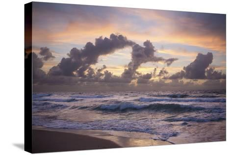Ocean Sunrise 1-Rob Lang-Stretched Canvas Print