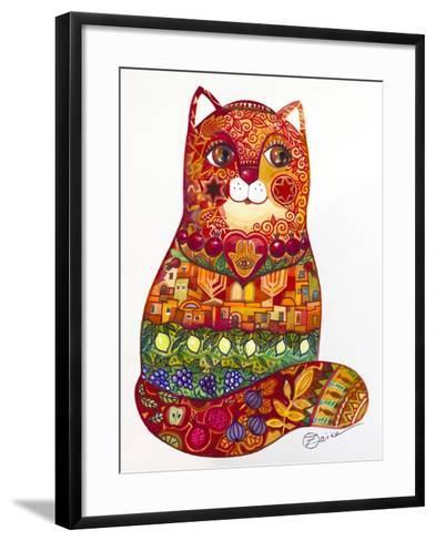 Judaica Folk Cat-Oxana Zaika-Framed Art Print