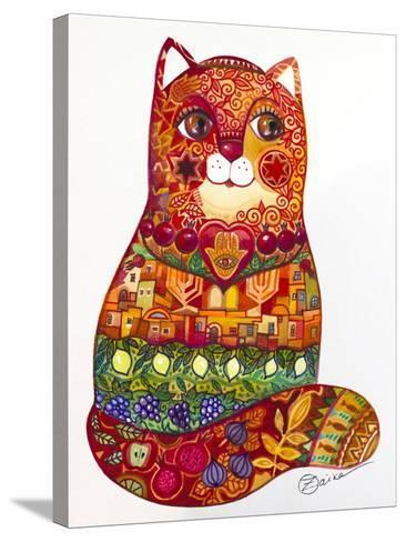 Judaica Folk Cat-Oxana Zaika-Stretched Canvas Print