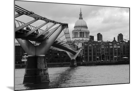 St Paul's Millennium Bridge BW-Toula Mavridou-Messer-Mounted Photographic Print