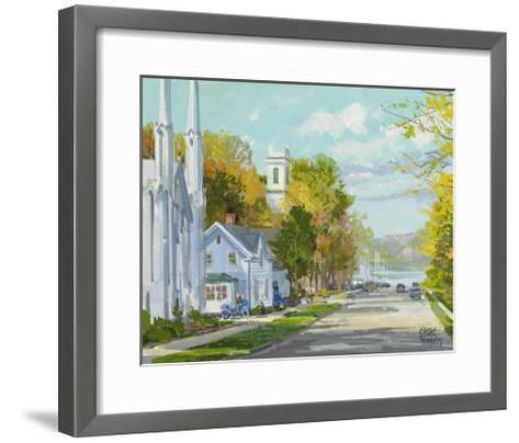 Down to the Harbour St. Andrews NB-Peter Snyder-Framed Art Print