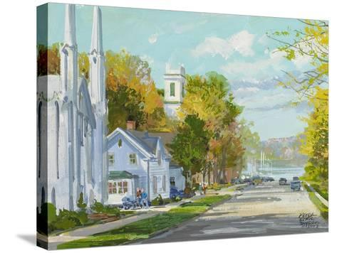 Down to the Harbour St. Andrews NB-Peter Snyder-Stretched Canvas Print