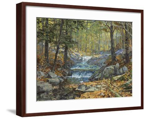 Glen Creek Waterfalls-Peter Snyder-Framed Art Print