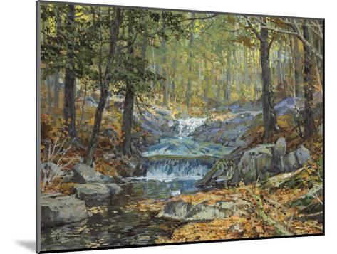 Glen Creek Waterfalls-Peter Snyder-Mounted Giclee Print