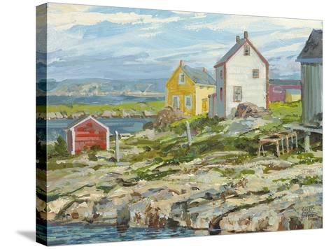 Fisherman's Houses Badger's Quay-Peter Snyder-Stretched Canvas Print
