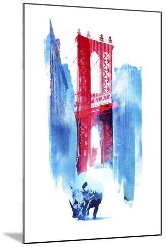 Manhattan Bridge-Robert Farkas-Mounted Giclee Print