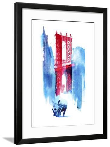 Manhattan Bridge-Robert Farkas-Framed Art Print