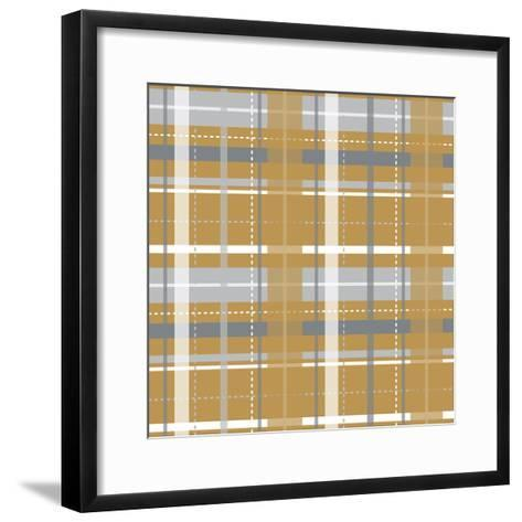Holiday Yellow Plaid-Joanne Paynter Design-Framed Art Print