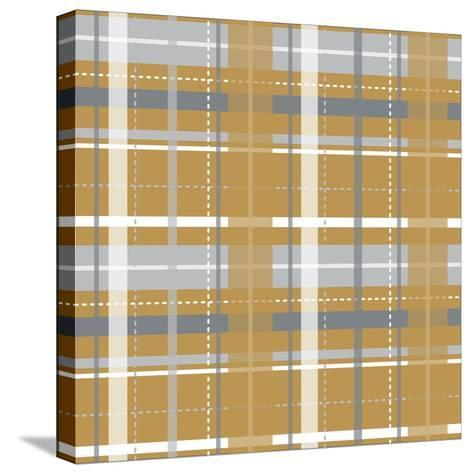 Holiday Yellow Plaid-Joanne Paynter Design-Stretched Canvas Print