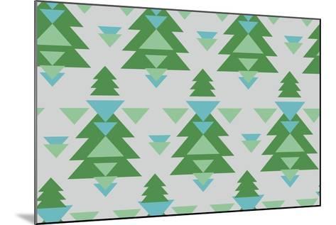 Aztec Trees-Joanne Paynter Design-Mounted Giclee Print