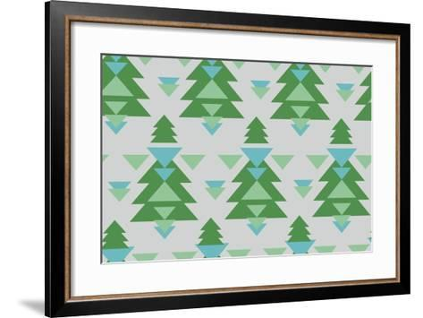 Aztec Trees-Joanne Paynter Design-Framed Art Print
