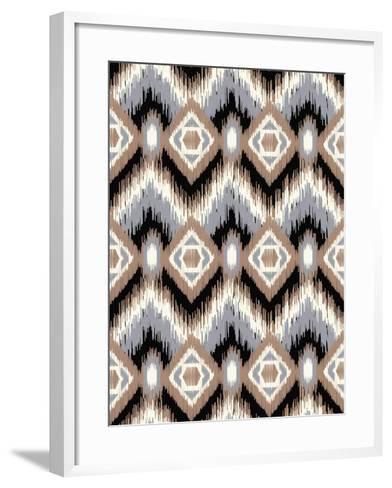 Holiday Ikat-Joanne Paynter Design-Framed Art Print