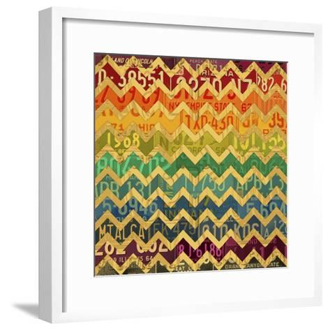 Patterns in the Road 1-Design Turnpike-Framed Art Print