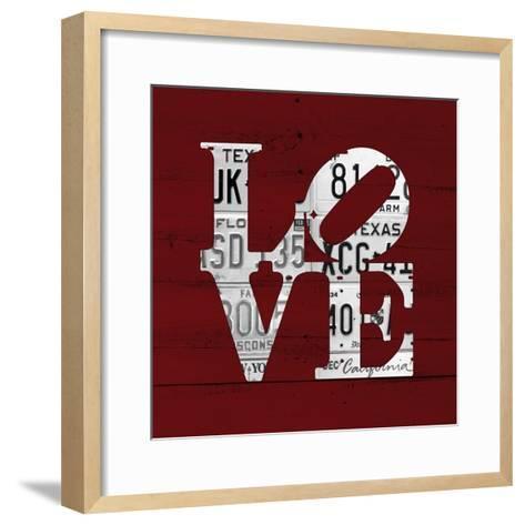 Love Word Art License Plates-Design Turnpike-Framed Art Print