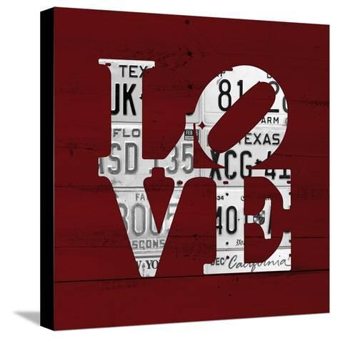 Love Word Art License Plates-Design Turnpike-Stretched Canvas Print