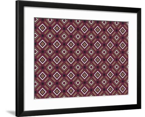 Christmas Wrap 1 Burg Diamonds-Joanne Paynter Design-Framed Art Print