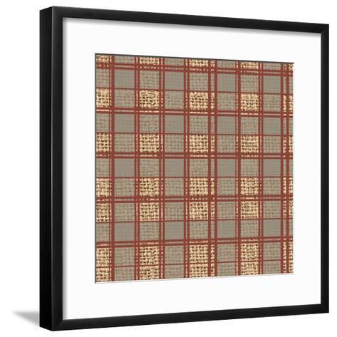 Burlap Plaid-Joanne Paynter Design-Framed Art Print