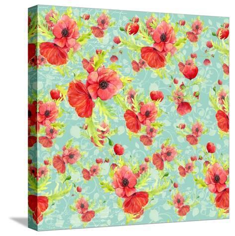 Poppy Pattern II-Irina Trzaskos Studios-Stretched Canvas Print