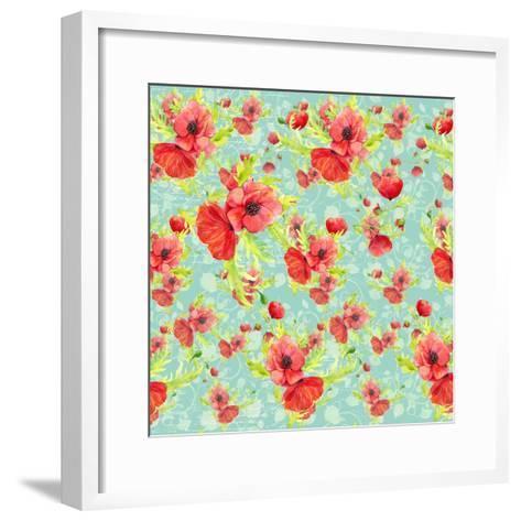 Poppy Pattern II-Irina Trzaskos Studios-Framed Art Print