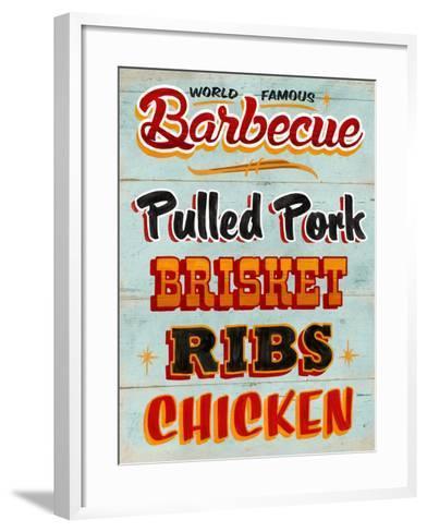 Barbeque Board Distressed-Retroplanet-Framed Art Print