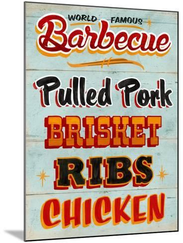 Barbeque Board Distressed-Retroplanet-Mounted Giclee Print