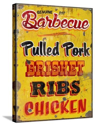 Barbeque Genuine Pit Trashed-Retroplanet-Stretched Canvas Print