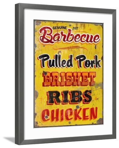 Barbeque Genuine Pit Trashed-Retroplanet-Framed Art Print