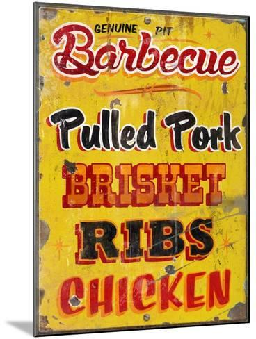 Barbeque Genuine Pit Trashed-Retroplanet-Mounted Giclee Print