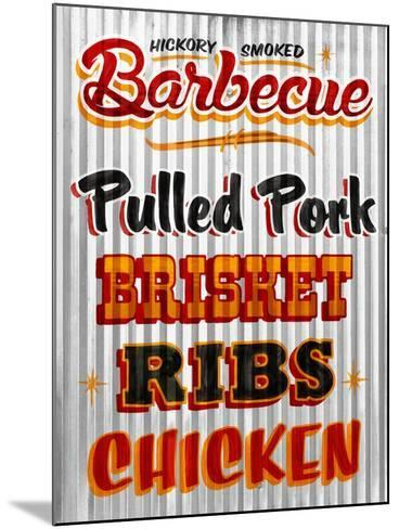 Barbeque Hickory Smoked Corregate Metal-Retroplanet-Mounted Giclee Print