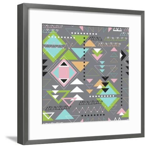 Triangle Tango-Joanne Paynter Design-Framed Art Print