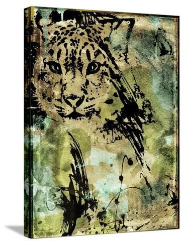Leopard Ink-Color Bakery-Stretched Canvas Print