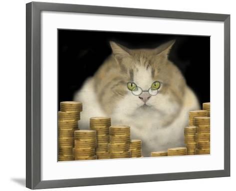 Fat Cat-J Hovenstine Studios-Framed Art Print