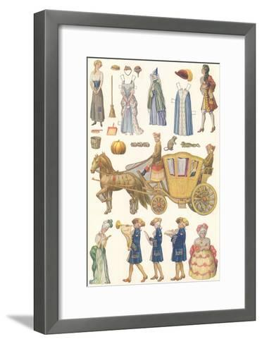CA Fairy 62-Vintage Apple Collection-Framed Art Print