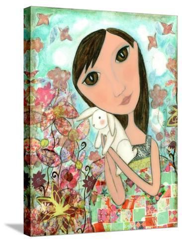 Big Eyed Bunny Girl-Wyanne-Stretched Canvas Print