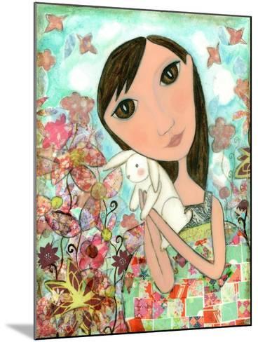 Big Eyed Bunny Girl-Wyanne-Mounted Giclee Print
