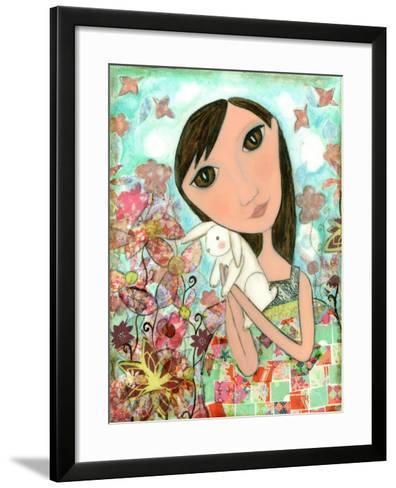 Big Eyed Bunny Girl-Wyanne-Framed Art Print