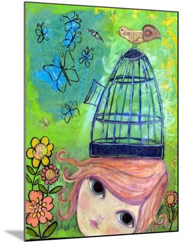 Big Eyed Girl it's All in My Head-Wyanne-Mounted Giclee Print