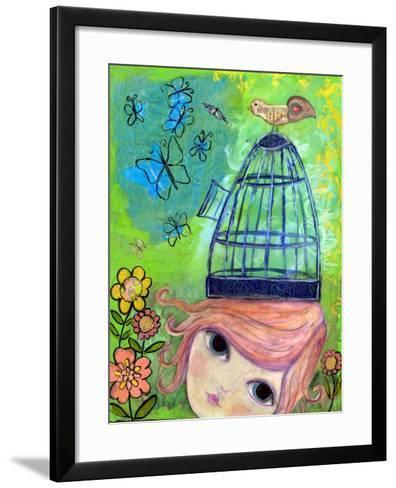 Big Eyed Girl it's All in My Head-Wyanne-Framed Art Print