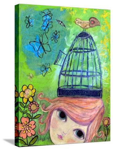Big Eyed Girl it's All in My Head-Wyanne-Stretched Canvas Print