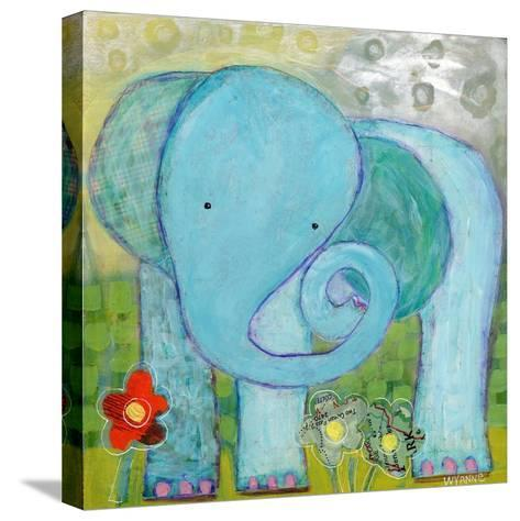 All Is Well Elephant-Wyanne-Stretched Canvas Print