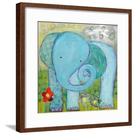 All Is Well Elephant-Wyanne-Framed Art Print