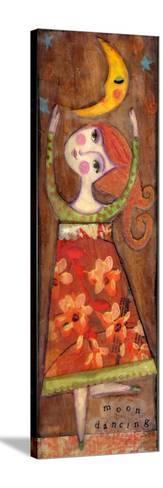Big Eyed Girl Moon Dancing-Wyanne-Stretched Canvas Print