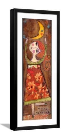 Big Eyed Girl Moon Dancing-Wyanne-Framed Art Print