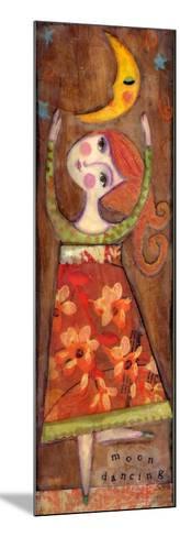 Big Eyed Girl Moon Dancing-Wyanne-Mounted Giclee Print