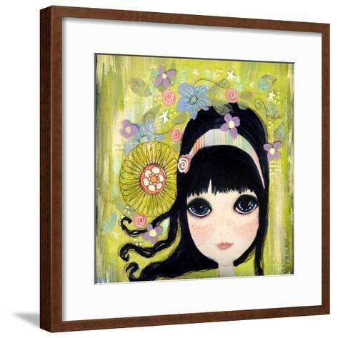 Big Eyed Girl Missing You-Wyanne-Framed Art Print